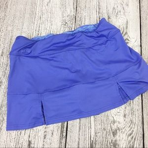 Bolle tennis skirt skort size L large blue flaps